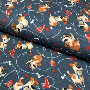 Úplet Pets Max blue digital print