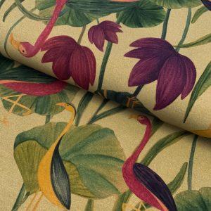 Úplet Flamingos bright digital print