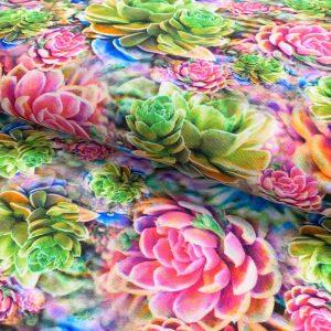Úplet Sempervivum rose digital print